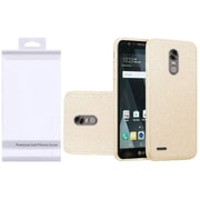Insten Hybrid Clear PC/TPU Glitter Dual Layer Case Cover with Package For LG K20 Plus / K20 V / V5 - Gold