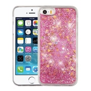 Insten Quicksand Glitter Hybrid Hard PC/TPU Case Cover For Apple iPhone SE / 5 / 5S - Stars Pink