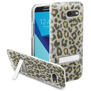 Insten Leopard Glitter Hybrid Kickstand Case For Samsung Galaxy J7 (2017)/J7 Perx/J7 Prime/J7 Sky Pro/J7 V - Neon Green