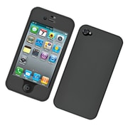 Insten Hard Snap On Back Rubber Protective Case Cover For Apple iPhone 4 / 4S - Black