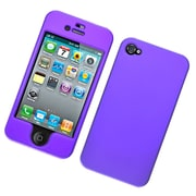 Insten Hard Snap On Back Rubber Protective Case For Apple iPhone 4 / 4S
