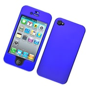 Insten Hard Snap On Back Rubber Protective Case Cover For Apple iPhone 4 / 4S