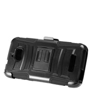 Insten Advanced Armor Hard Hybrid Plastic Silicone Cover Case w/stand/Holster For Coolpad Defiant - Black
