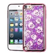 Insten Electroplating Cute Skulls Quicksand Glitter Hybrid Case For Apple iPod Touch 5th Gen/6th Gen - Purple/Rose Gold