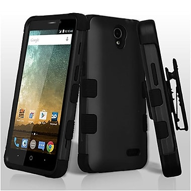 Insten TUFF Hybrid Dual Layer PC/TPU Holster Stand Case Cover For ZTE Prestige 2 N9136 - Black