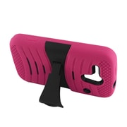 Insten Wave Symbiosis Stand Hybrid Silicone/Hard PC Case Cover For Kyocera Hydro Edge C5215 - Hot Pink/Black