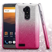 Insten Gradient Glitter Dual Layer Hybrid PC/TPU Cover Case For ZTE Blade Max 3 / Max XL N9560 - Pink