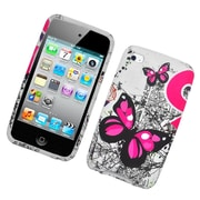Insten Butterflies Hard Snap-in Protective Back Case Cover For Apple iPod Touch 4th Gen