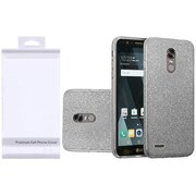 Insten Hybrid Clear PC/TPU Glitter Dual Layer Case Cover with Package For LG K20 Plus / K20 V / V5 - Smoke