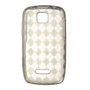 Insten Transparent TPU Rubber Candy Skin Back Case Cover For Motorola Theory - Smoke
