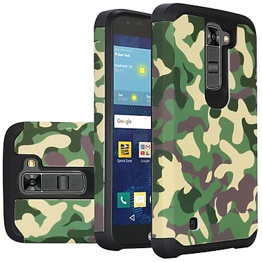 Insten Camouflage Slim Hybrid Dual Layer Hard PC/Silicone Case For LG K7 Tribute 5 - Green/Black