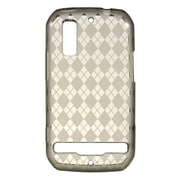 Insten Transparent TPU Rubber Candy Skin Back Case Cover For Motorola Photon 4G - Smoke