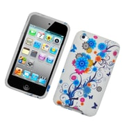 Insten Flowers Hard Snap-in Protective Back Case Cover For Apple iPod Touch 4th Gen - Multi-Color