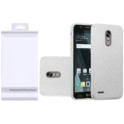 Insten Hybrid Clear PC/TPU Glitter Dual Layer Case Cover with Package For LG K20 Plus / K20 V / V5 - Silver