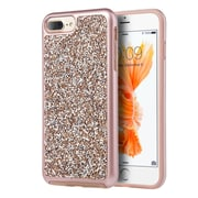 Insten Rhinestone Diamond Bling Hard Snap On Case Cover For Apple iPhone 7 Plus/ 8 Plus / 6s Plus / 6 Plus, Silver/Rose Gold