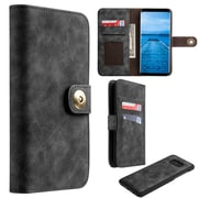 Insten Detachable Magnetic Book-Style Leather [Card Slot] Wallet Pouch Case For Samsung Galaxy S8 Plus S8+ - Black