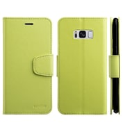 Insten Urban Classic Stand Book-Style Leather [Card Holder Slot] Wallet Pouch Case Cover For Samsung Galaxy S8 - Green