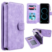 Insten Detachable Magnetic Flip Leather Wallet Pouch Case Cover For Samsung Galaxy S8 Plus S8+ - Light Purple