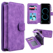 Insten Detachable Magnetic Flip Leather Wallet Pouch Case Cover For Samsung Galaxy S8 - Purple