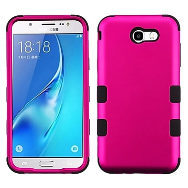 Insten TUFF Hybrid Case For Samsung Galaxy J7 (2017) / J7 Perx / J7 Sky Pro / J7 V - Titanium Solid Hot Pink/Black