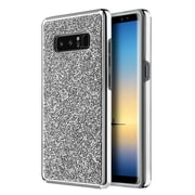 Insten Rhinestone Diamond Bling Hard Snap-in Case Cover for Samsung Galaxy Note 8 - Silver