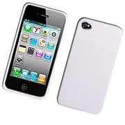 Insten TPU Rubber Candy Skin Case Cover For Apple iPhone 4 / 4S - White