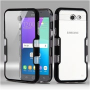 Insten Tuff Case Cover For Samsung Galaxy Amp Prime 2/Express Prime 2/J3 (2017)/J3 Emerge (with Package) - Clear/Black
