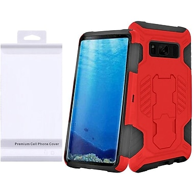 Insten SuperCoil Hybrid Hard Premium Kickstand Case with Package For Samsung Galaxy S8+ S8 Plus - Red/Black