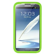 Insten SIlicone Skin Back Soft Rubber Gel Case Cover For Samsung Galaxy Note II - Green