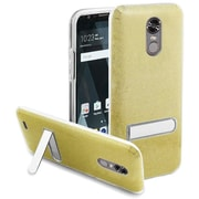 Insten Stand Hard Plastic/Soft TPU Rubber Case Cover For LG Stylo 3 LS777/K10 Pro/Stylus 3/Stylo 3 Plus - Gold