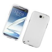 Insten Rubberized Hard Snap On Protective Case Cover For Samsung Galaxy Note II - White
