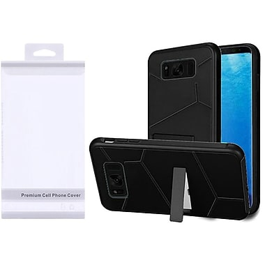 Insten HLX Hybrid Kickstand PC/TPU Case with Package For Samsung Galaxy S8 - Black