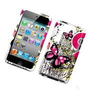Insten Butterflies Hard Snap-in Protective Back Case Cover For Apple iPod Touch 4th Gen - Multi-Color