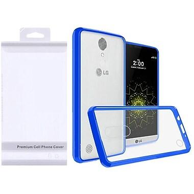 Insten Ultra Slim Hybrid Crystal Clear Fused PC/TPU Case w/ Premium Package For Samsung Galaxy J3 (2017) - Clear/Blue