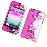 Insten Vines Hard Snap-in Protective Back Case Cover For Apple iPod Touch 4th Gen - Hot Pink/Silver