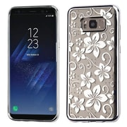 Insten Hibiscus Flower Glassy SPOTS Electroplated Premium TPU Candy Skin Case For Samsung Galaxy S8+ S8 Plus - Silver