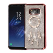 Insten Dreamcatcher Electroplating Quicksand Glitter Hybrid Case For Galaxy S8+ S8 Plus - Rose Gold/Silver