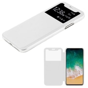 Insten Plastic Hard Silk Texture Case Cover For Apple iPhone X - White