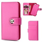 Insten Magnetic Stand Folio Flip Leather Wallet Flap Pouch Case Cover for Apple iPhone 6/6s/7 - Hot Pink