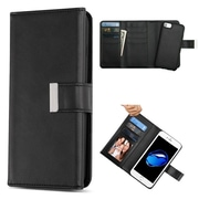 Insten Magnetic Stand Folio Flip Leather Wallet Flap Pouch Case Cover for Apple iPhone 6/6s/7 - Black (2377748)
