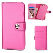 Insten Magnetic Stand Folio Flip Leather Wallet Flap Pouch Case Cover for Apple iPhone 6 Plus/6s Plus/7 Plus - Hot Pink
