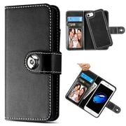 Insten Magnetic Stand Folio Flip Leather Wallet Flap Pouch Case Cover for Apple iPhone 6/6s/7 - Black (2377789)