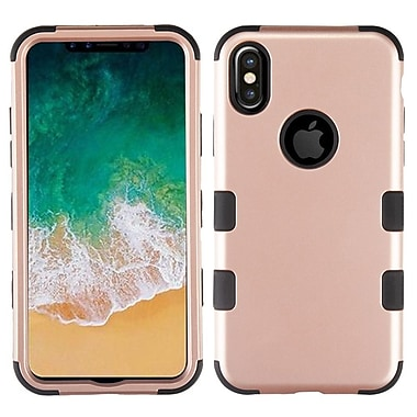Insten Tuff Dual Layer Hybrid PC/TPU Rubber Case Cover for Apple iPhone X - Rose Gold/Black (2377920)