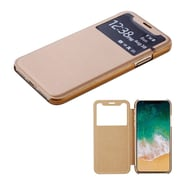 Insten Plastic Hard Silk Texture Candy Skin Case Cover For Apple iPhone X - Gold