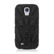 Insten Dual Layer Hybrid Stand Rubber Silicone Skin Gel Case Cover For Samsung Galaxy S4 - Black