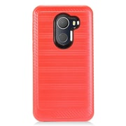 Insten Hybrid Brushed PC/TPU Rubber Case for Alcatel A30/A30 Fierce (2017)/Revvl (T-Mobile)/Revvl 5049W/Walters - Red