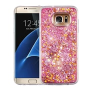 Insten Stars/Pink Quicksand Glitter Hybrid Hard PC/TPU Case Cover For Samsung Galaxy S7 Edge