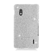 Insten Rhinestone Diamond Bling Hard Snap-in Case Cover For LG Optimus G E970 - Silver