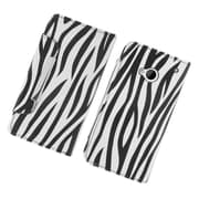 Insten Zebra Leather Wallet Flip Credit Card Case Cover For HTC One M7 - Black/White