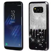 Insten Glittering Silver Stars (Black) Krystal Gel Series TPU Candy Skin Case For Samsung Galaxy S8+ S8 Plus - Silver